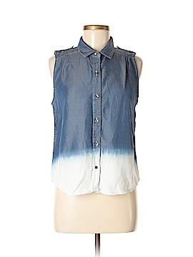 CALVIN KLEIN JEANS Sleeveless Button-Down Shirt Size M