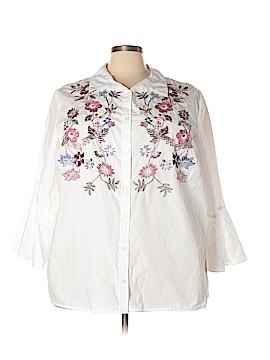 Charter Club Long Sleeve Button-Down Shirt Size 24W (Plus)