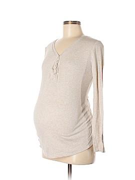 Liz Lange Maternity for Target Long Sleeve Henley Size M (Maternity)