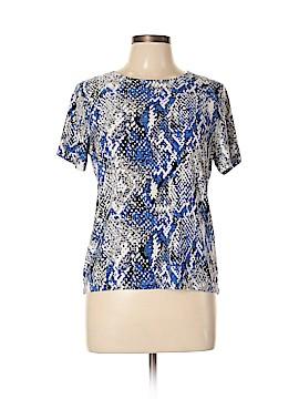JM Collection Short Sleeve Blouse Size L (Petite)