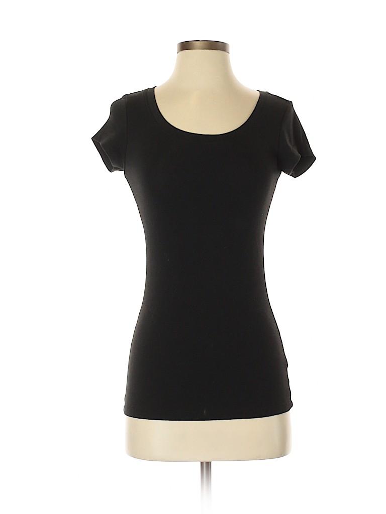 15fd26b96b3d Cynthia Rowley TJX Solid Black Short Sleeve T-Shirt Size S - 50% off ...