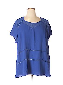 City Chic Short Sleeve Blouse Size 22 (Plus)