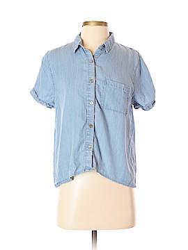 Paper Crane Short Sleeve Button-Down Shirt Size M