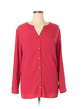 Susan Graver Long Sleeve Blouse Size 24W (Plus)