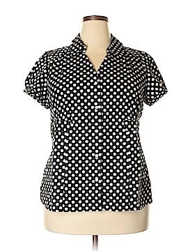 Alfani Short Sleeve Button-Down Shirt Size 18 (Plus)