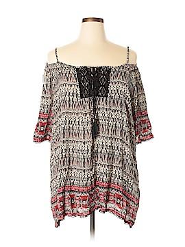 Dex Short Sleeve Blouse Size 1X (Plus)