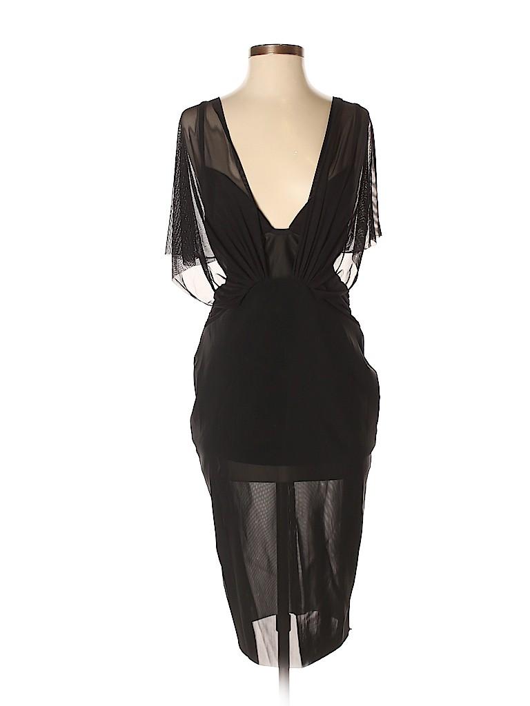 Bec & Bridge Solid Black Cocktail Dress Size 6 - 75% off | thredUP
