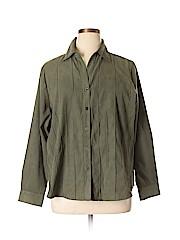 DressBarn Women Long Sleeve Button-Down Shirt Size 18/20 Plus (Plus)