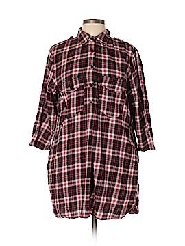 Zara 3/4 Sleeve Button-Down Shirt Size XL