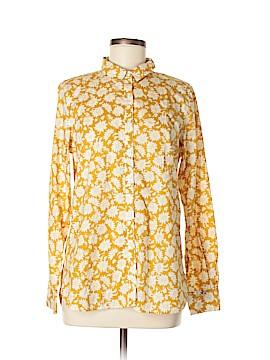 Garnet Hill Long Sleeve Button-Down Shirt Size 8