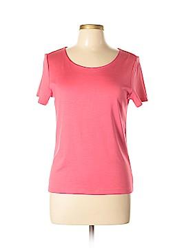 Linda Allard Ellen Tracy Short Sleeve Silk Top Size M