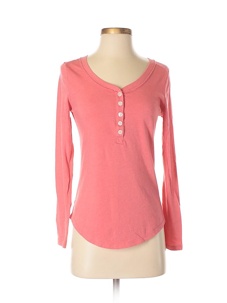 Gap Body Outlet Women Long Sleeve Henley Size S