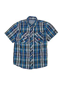 U.S. Polo Assn. Short Sleeve Button-Down Shirt Size 8