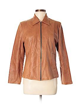 Calvin Klein Faux Leather Jacket Size 40
