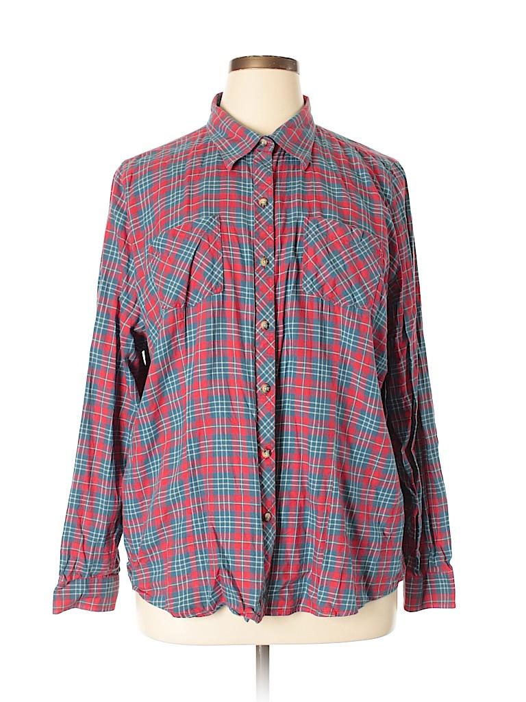 395b398464 L.L.Bean 100% Cotton Stripes Light Blue Long Sleeve Button-Down ...