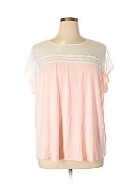 Linda Matthews Short Sleeve Top Size 1X (Plus)