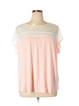 Linda Matthews Short Sleeve Top Size 2X (Plus)