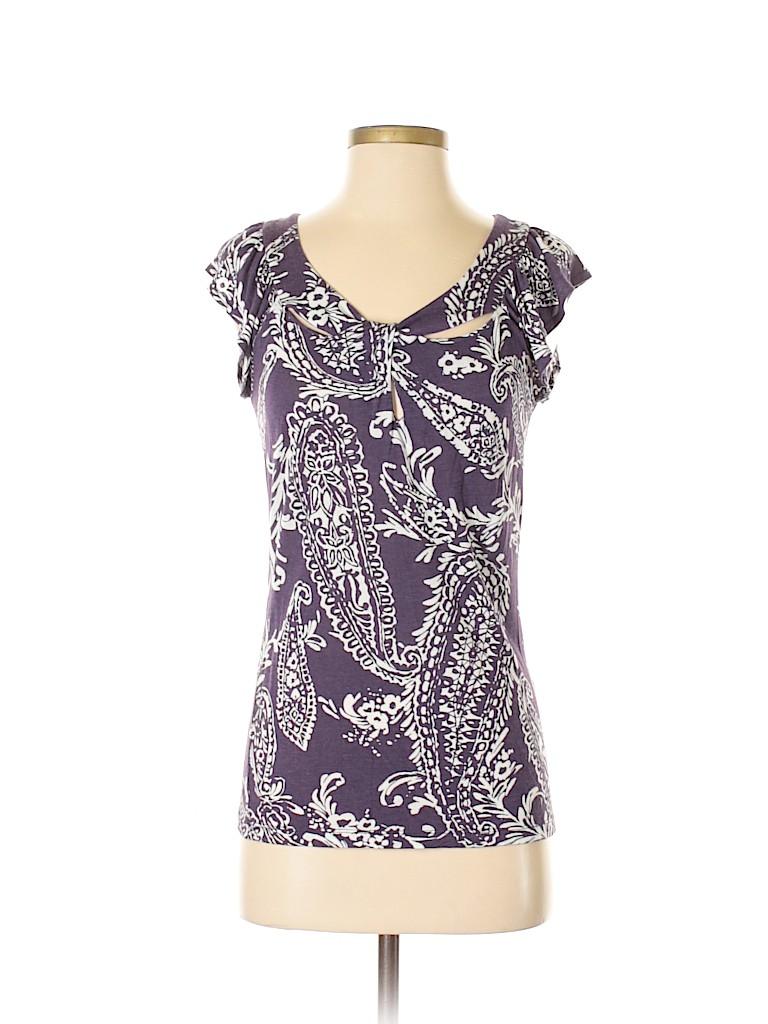 New York & Company Women Short Sleeve Top Size S