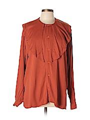 Emporio Armani Women Long Sleeve Button-Down Shirt Size L