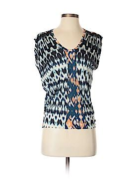 Velvet Short Sleeve Blouse Size S