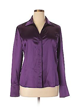 Lafayette 148 New York Long Sleeve Silk Top Size 14