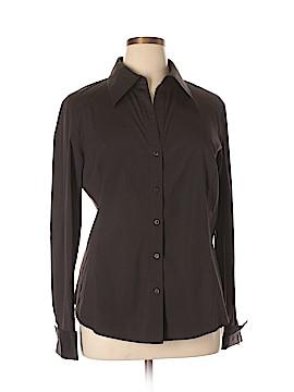 Lafayette 148 New York Long Sleeve Button-Down Shirt Size 18 (Plus)