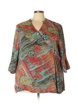 Tianello 3/4 Sleeve Blouse Size 1X (Plus)