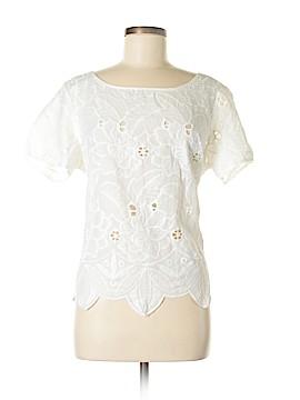 August Silk Short Sleeve Blouse Size L