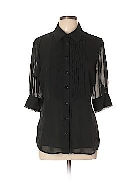 Moda International 3/4 Sleeve Silk Top Size L