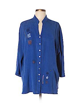 Tianello 3/4 Sleeve Blouse Size 0X (Plus)