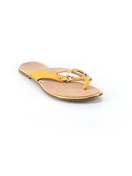 Silver Slipper Flip Flops Size 7