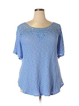 Denim 24/7 Short Sleeve Top Size 1X (Plus)