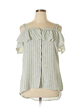 Romeo & Juliet Couture Short Sleeve Blouse Size L
