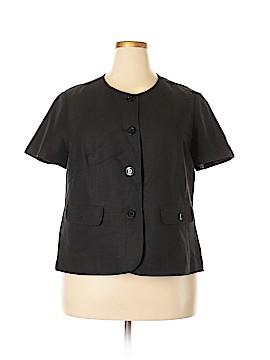 Kasper Short Sleeve Button-Down Shirt Size 16