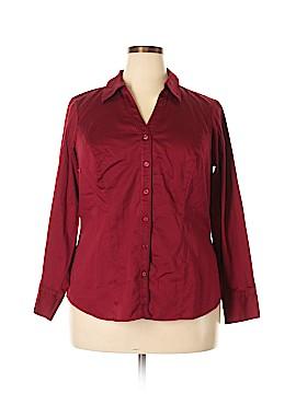 Eloquii Long Sleeve Button-Down Shirt Size 16 (Plus)