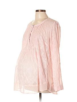 Daniel Rainn for A Pea in the Pod Long Sleeve Blouse Size L (Maternity)