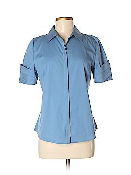 Tahari Short Sleeve Button-Down Shirt Size M