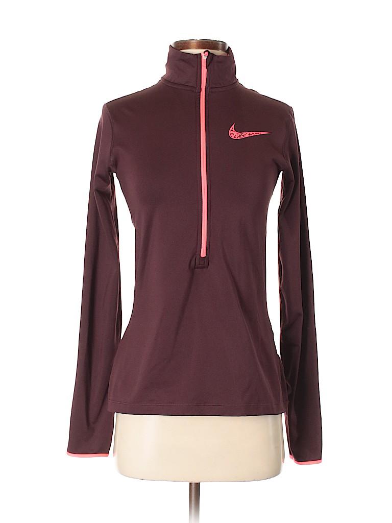 882e3bbff51f Nike Solid Burgundy Track Jacket Size M - 68% off