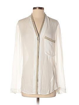 HELMUT Helmut Lang Long Sleeve Silk Top Size S