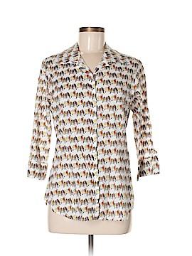 Weston Wear 3/4 Sleeve Button-Down Shirt Size M