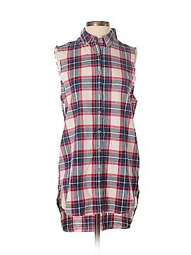 Pull & Bear Sleeveless Button-Down Shirt Size S