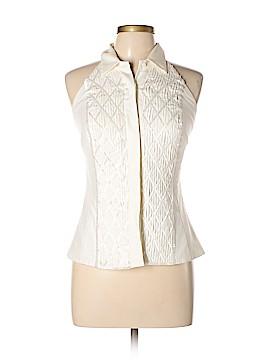 Carmen Marc Valvo Sleeveless Silk Top Size 4