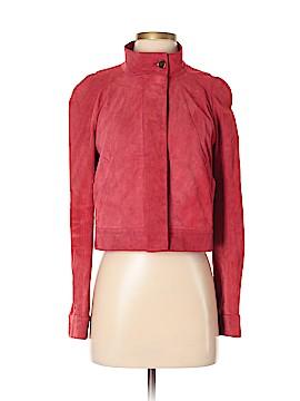 Monique Lhuillier Leather Jacket Size 4