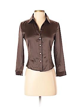 Theory 3/4 Sleeve Silk Top Size P