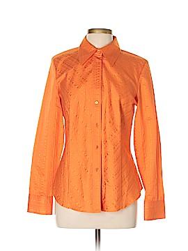 Ellen Tracy Long Sleeve Button-Down Shirt Size 10