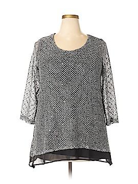 JM Collection 3/4 Sleeve Top Size 1X (Plus)