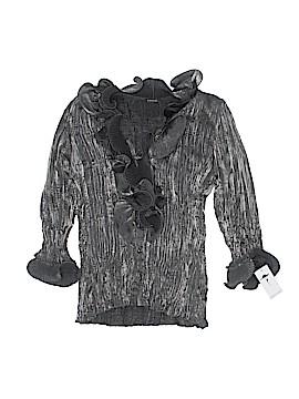 PIANO Long Sleeve Button-Down Shirt Size L