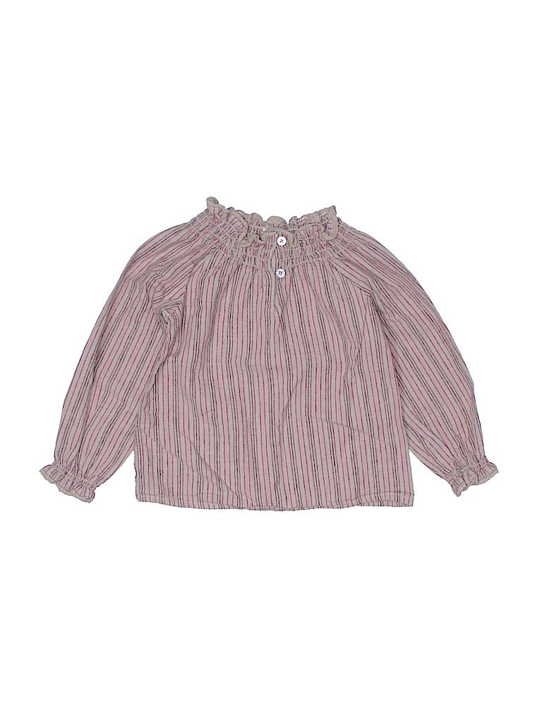 Tea Girls Long Sleeve Button-Down Shirt Size 3