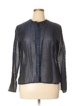 Jones New York Long Sleeve Button-Down Shirt Size 14