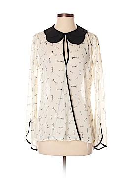 Bisou Bisou Long Sleeve Blouse Size XS